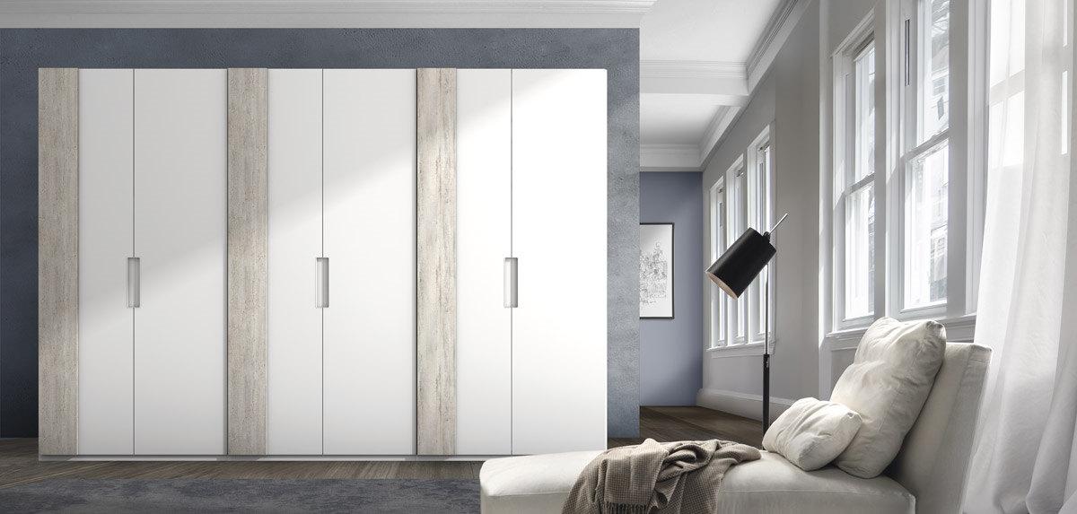 Dormitorio de matrimonio de dise o moderno serie eos color for Diseno de dormitorio blanco