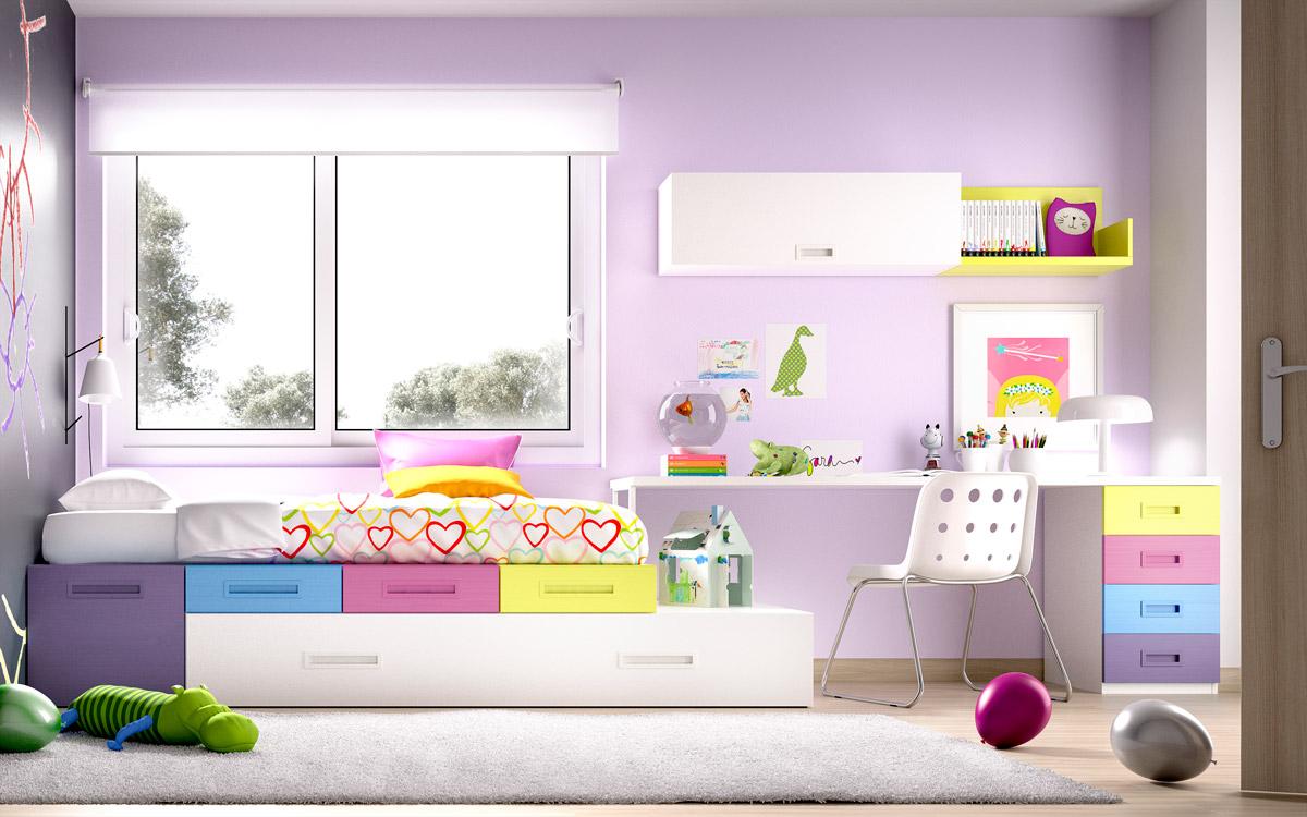 Dormitorio juvenil con compacto serie open muebles sipo - Muebles compactos juveniles ...