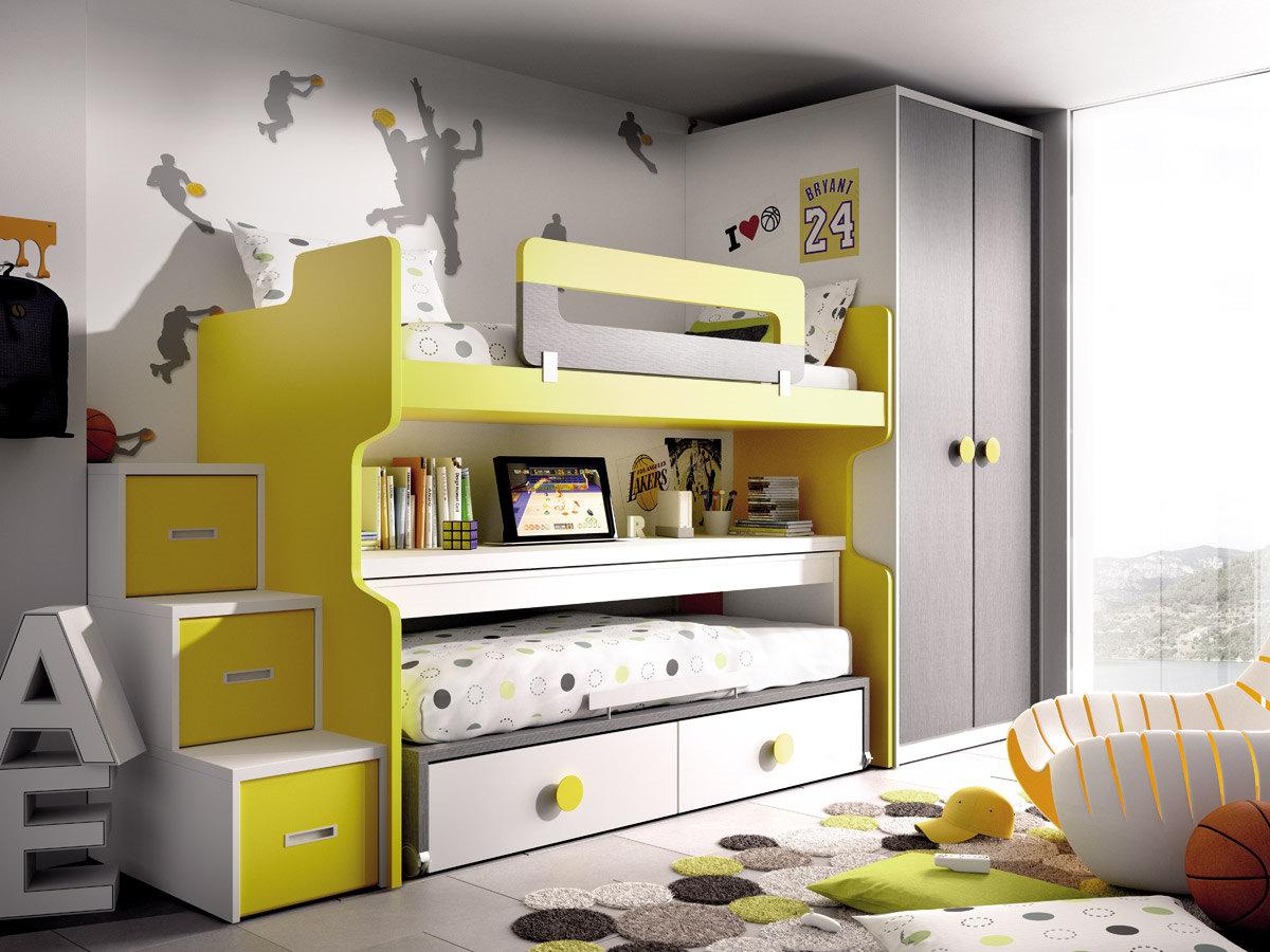 Muebles sipo dormitorio juvenil litera - Dormitorios con literas para ninos ...