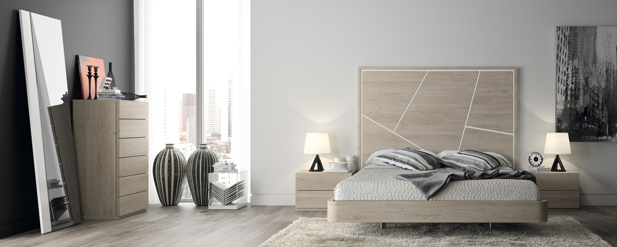 Dormitorio De Matrimonio De Diseno Moderno Serie Eos Color Nordico Y - Dormitorio-diseo-moderno