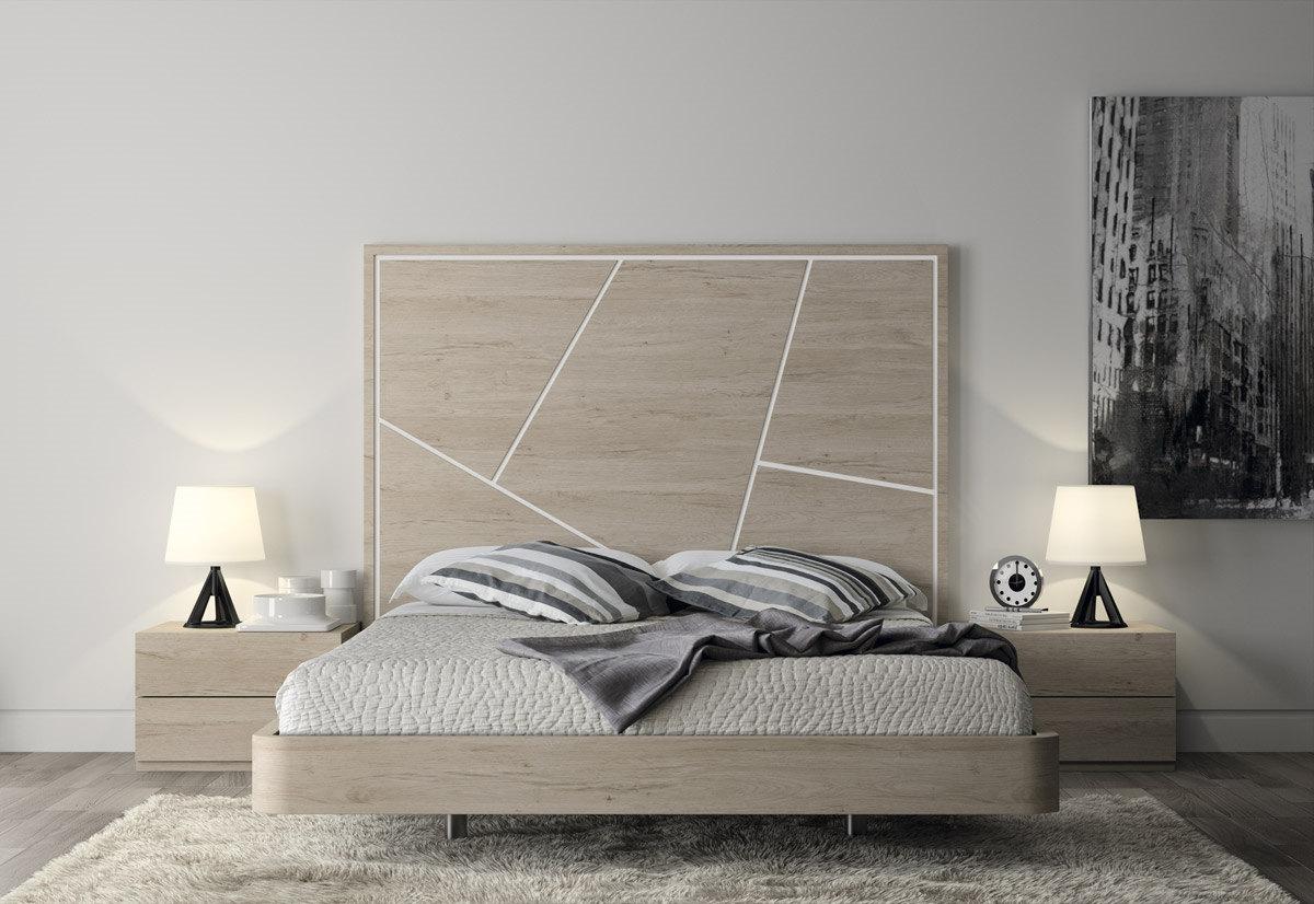 Dormitorio De Matrimonio De Dise O Moderno Serie Eos Color Nordico  # Muebles Salon Eos