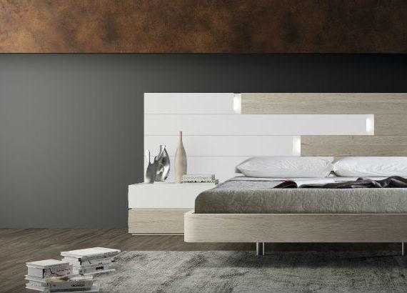 Dormitorio de matrimonio serie eos lacado en blanco y - Muebles dormitorio moderno ...