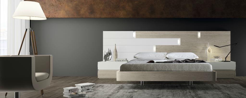 Dormitorio de matrimonio moderno serie eos color nordico y for Dormitorio matrimonio nordico