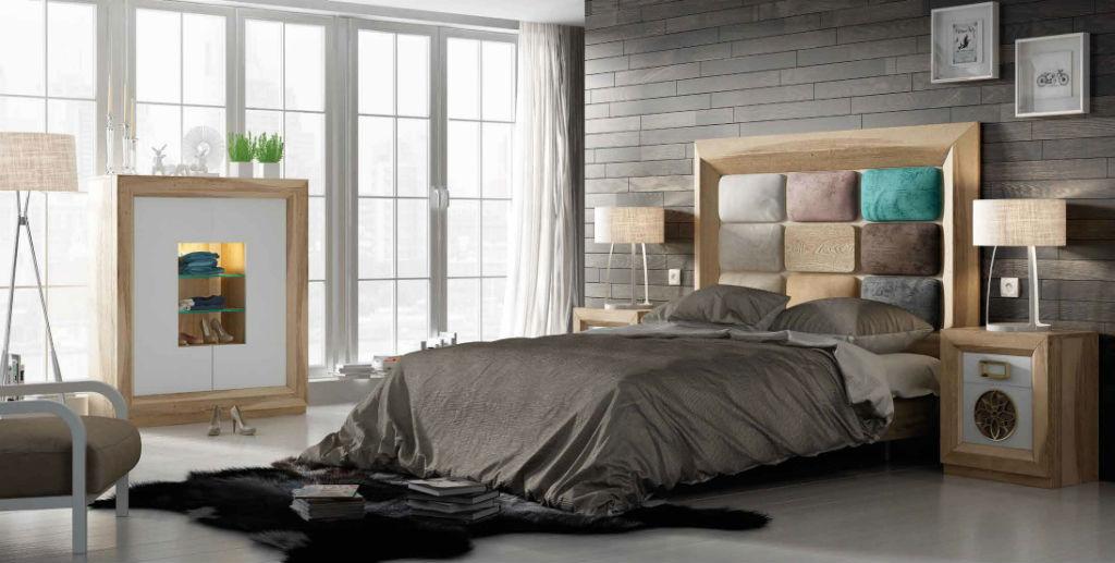 Dormitorio de matrimonio serie enzo en chapa de roble y for Precio habitacion matrimonio