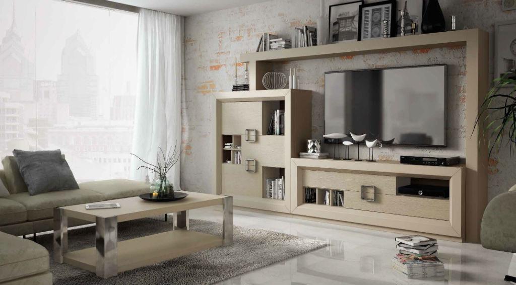 Salon serie enzo lacado con frontales en chapa natural en - Cambiar color muebles ...