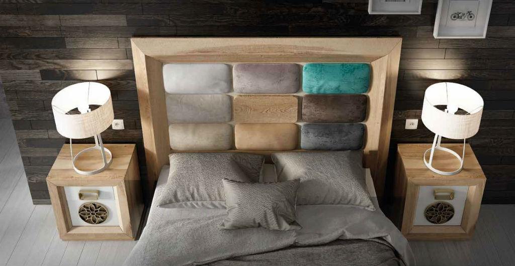 Dormitorio de matrimonio serie enzo en chapa de roble y for Muebles intermobel