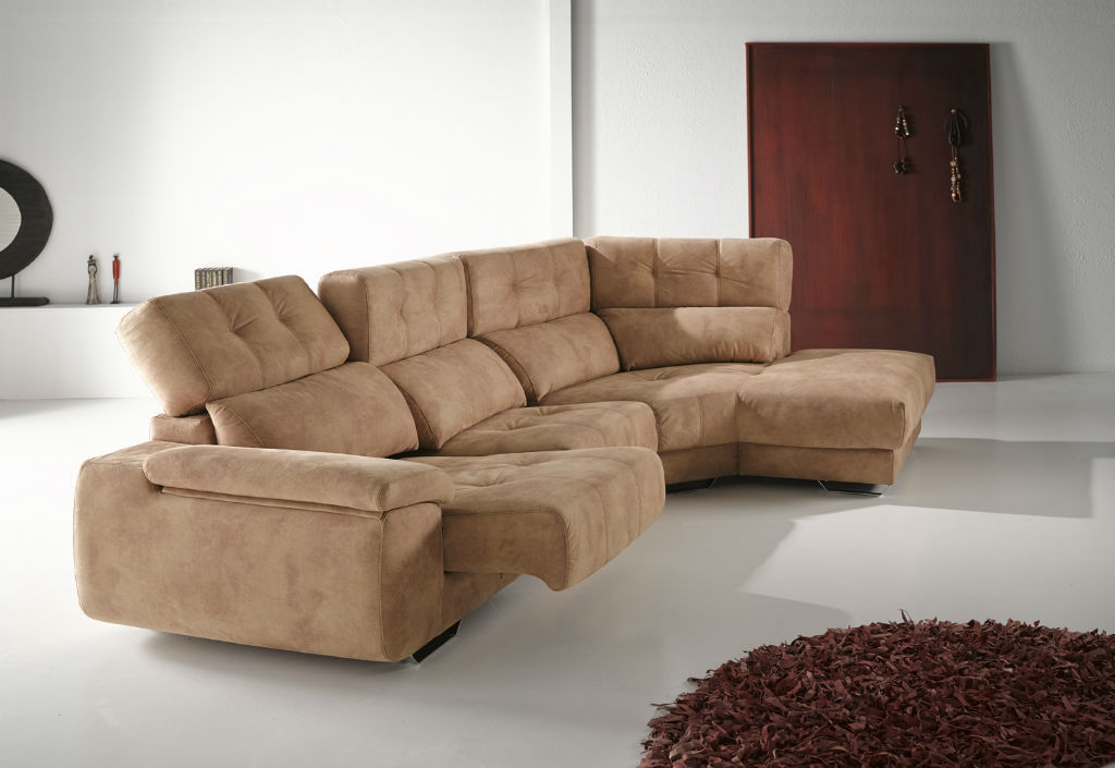 muebles sipo sofa con chaiselongue rincon tapizado beige. Black Bedroom Furniture Sets. Home Design Ideas