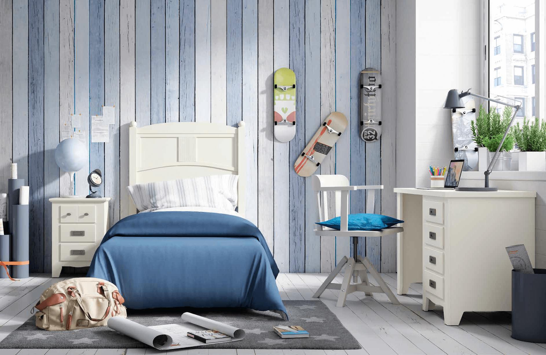 Dormitorio juvenil color blanco muebles sipo - Dormitorios color blanco ...