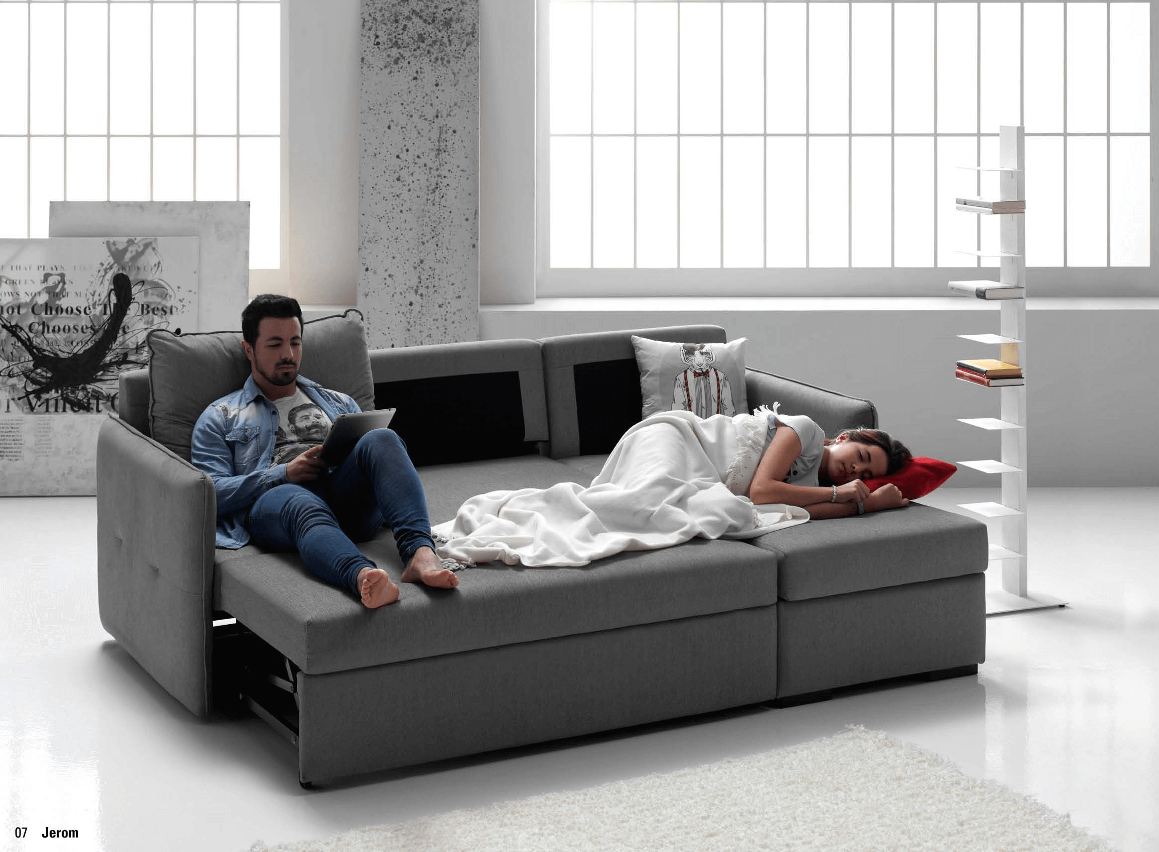 Sofa cama con chaislongue muebles sipo for Sofa cama 1 persona