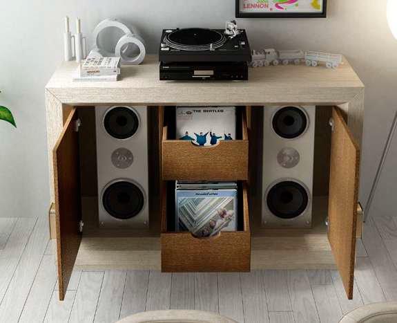 Mueble para vinilo muebles sipo - Mueble para vinilos ...