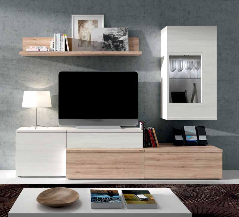 Salon comedor en roble natural y polar muebles sipo for Muebles salon roble natural