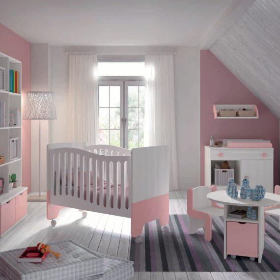 Dormitorio infantil en color blanco y tierra muebles sipo for Dormitorio infantil blanco