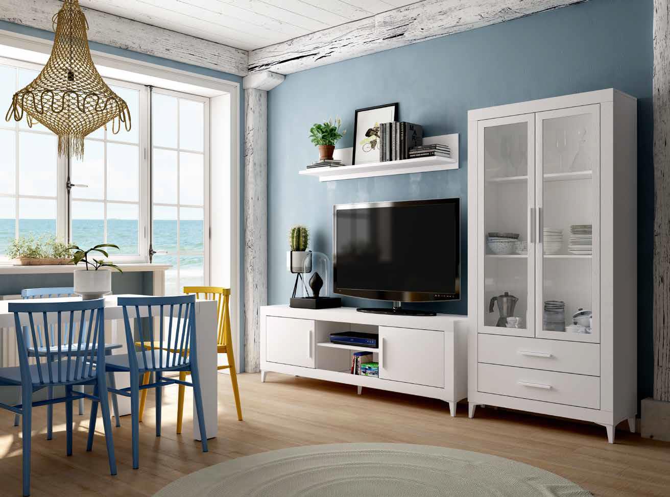 Sal n comedor estilo n rdico modelo 122 muebles sipo - Decoracion de salones estilo romantico ...